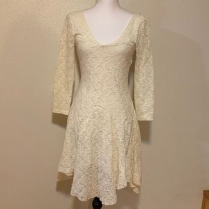 Free People cream dress, size small